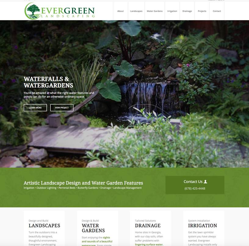 evergreen landscaping.com